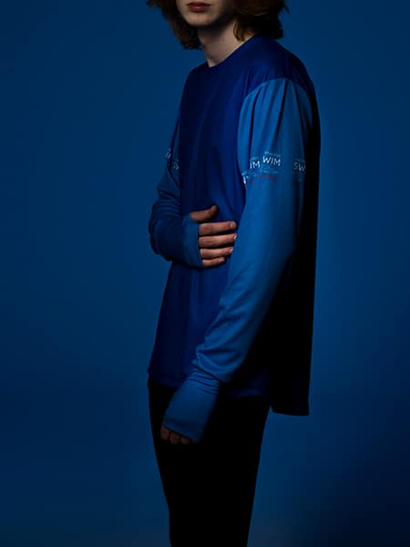 Comfortable-Two-color-Shirt-Front-Blue