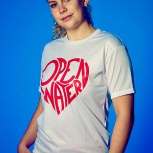 Heart Shaped Open Water Shirt-white