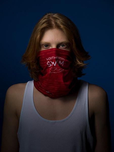 Tube Scarf-Wörthersee Swim - Red